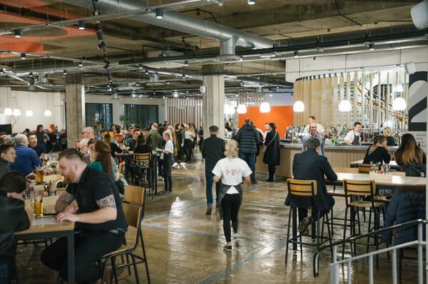 Kommune interior and bar